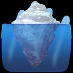 iceberg submerged and tip