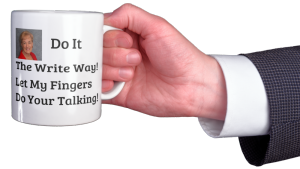 business etiquette coffee mug