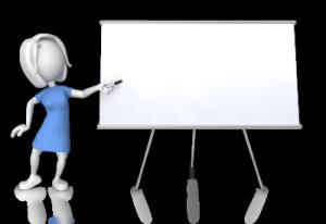 woman conducting presentations