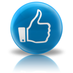 blue icon with hand in thumbs up position