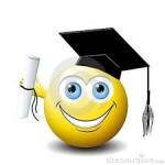 Smiley Face - Graduation cap